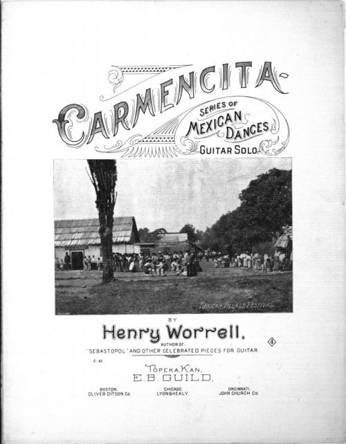 Carmencita. Series of Mexican dances guitar solo - Page