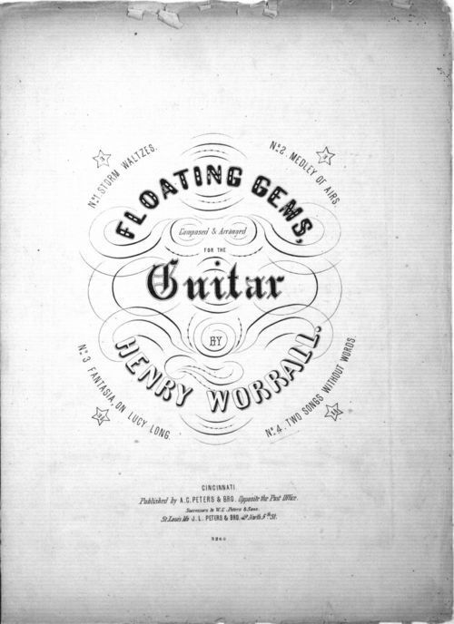 Floating gems, composed and arranged for the guitar by Henry Worrall - Page