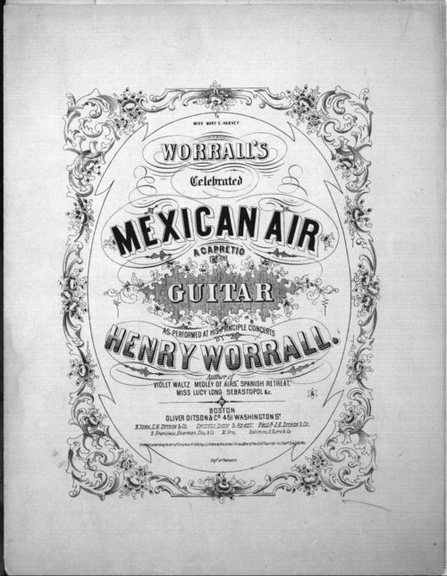Worrall's celebrated Mexican air. A capretio for the guitar - Page
