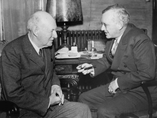 Alfred Mossman Landon, Kansas governor, with his father John Manual Landon - Page