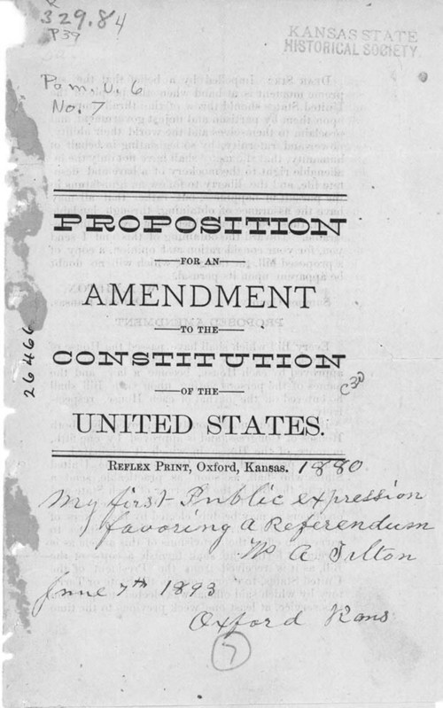 Proposition for an amendment to the Constitution of the United States. - Page