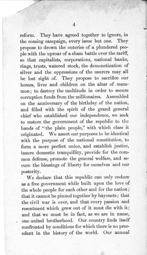 Constitution and by-laws of the People's Party Club - Page