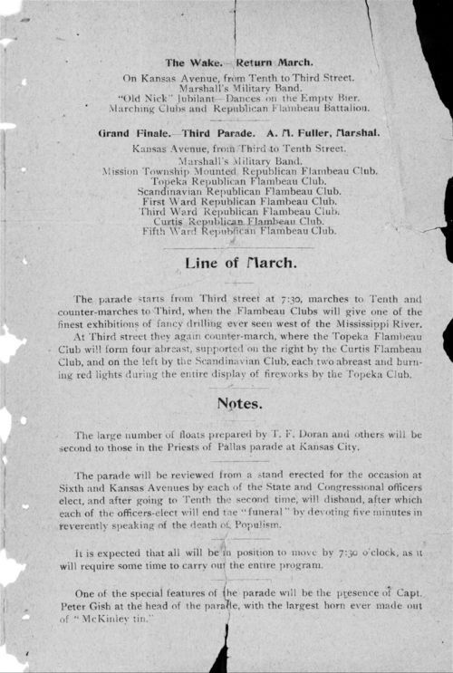 Official program of the celebrated Populist funeral parade - Page