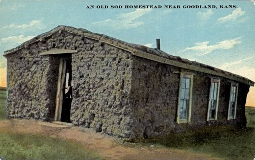 Sod house near Goodland, Kansas - Page