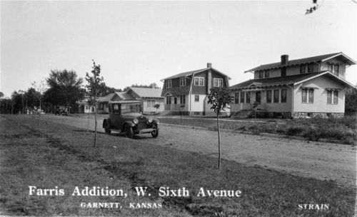 Farris Addition, West Sixth Avenue, Garnett, Kansas - Page