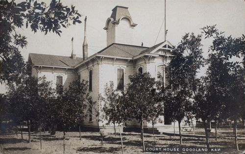 Postcard view of the Sherman County courthouse, Goodland, Kansas, 1907