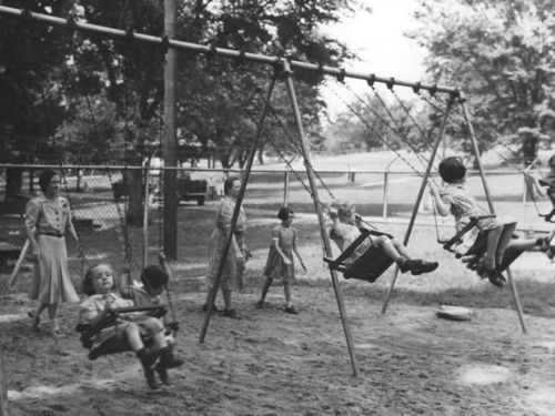 Children swinging, Kansas City, Kansas - Page