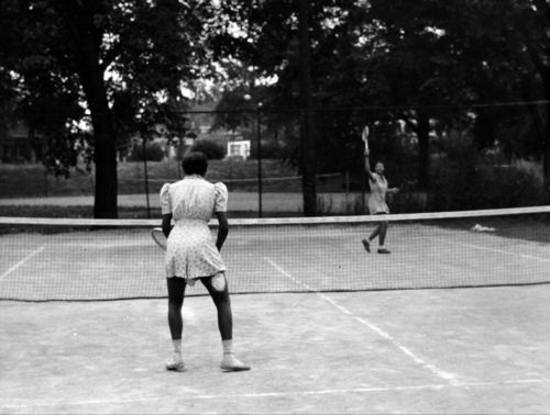 Tennis players at Big Eleven Lake, Kansas City, Kansas - Page