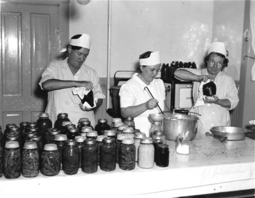 Women canning vegetables - Page