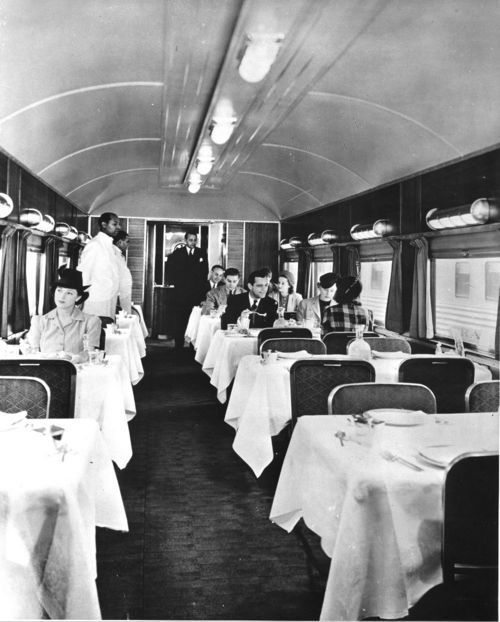 Dining car on the Santa Fe Chief - Page
