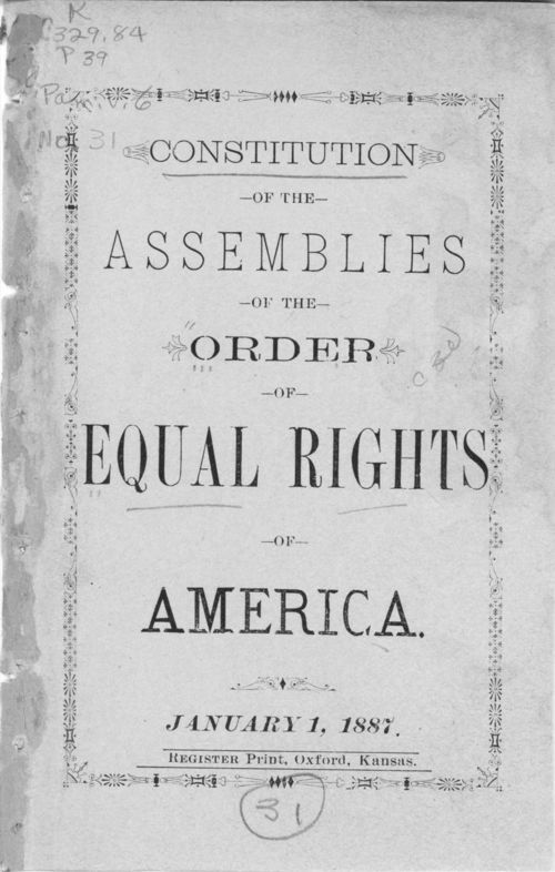 Constitution of the Assemblies of the Order of Equal Rights of America - Page