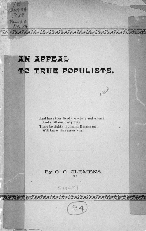 An appeal to true Populists - Page