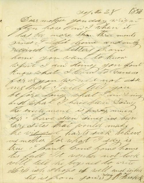 """James Butler """"Wild Bill"""" Hickok to Polly Butler Hickok - Page"""