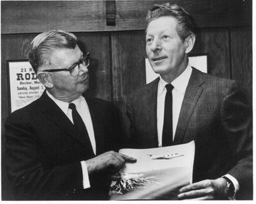 William Lear with actor Danny Kaye