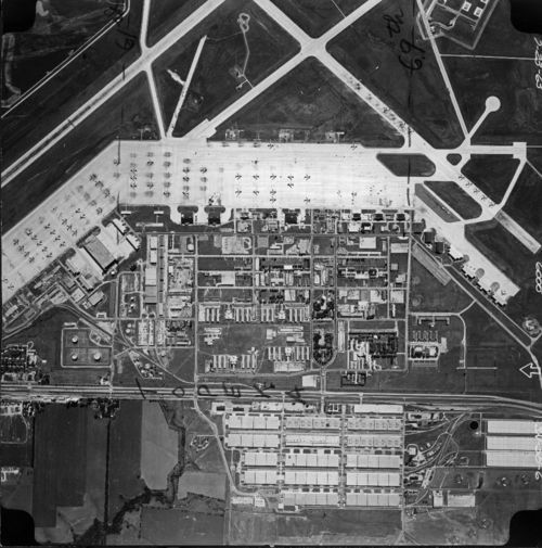 Aerial view of Forbes Air Force Base, Topeka, Kansas - Page