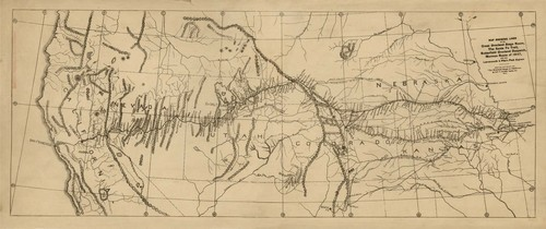 Map showing lines of the Great Overland Stage Route... - Page