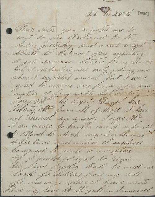 "James Butler ""Wild Bill"" Hickok to Lydia Hickok - Page"