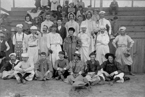 Bloomer and Mother Hubbard baseball team, Junction City, Kansas - Page