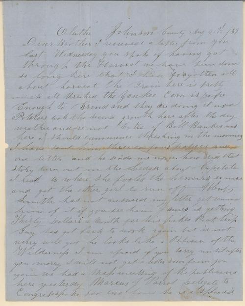 Horace D. Hickok to Lorenzo Butler Hickok - Page