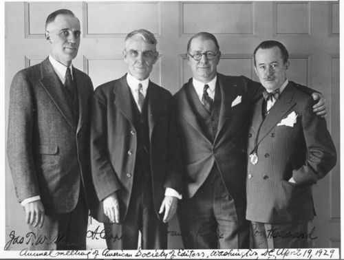 Arthur Capper with Jas. T. Williams, Frank Knox, and Roy Howard in Washington, D.C. - Page