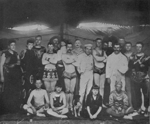 Fred Andrew Stone with a circus group - Page