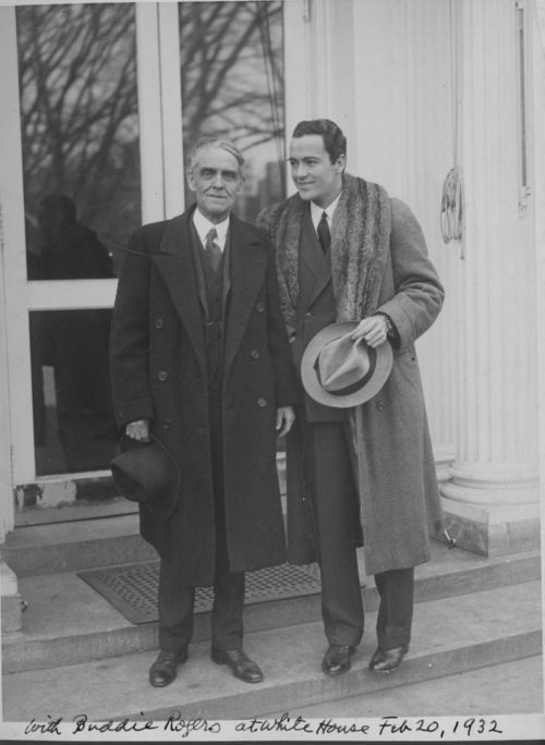 """Senator Arthur Capper and Charles """"Buddy"""" Rogers - Page"""