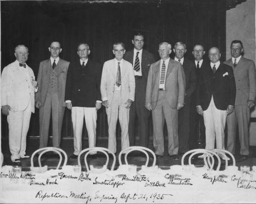 Arthur Capper at a Republican meeting, Emporia, Kansas - Page