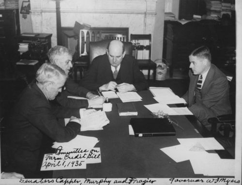Arthur Capper with a committee on the farm credit bill - Page
