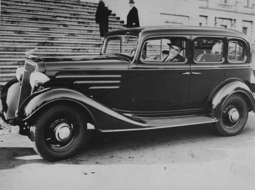 Arthur Capper in his new 1934 Chevrolet - Page