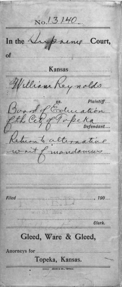 William Reynolds vs. The Board of Education of the City of Topeka, mandamuses - Page