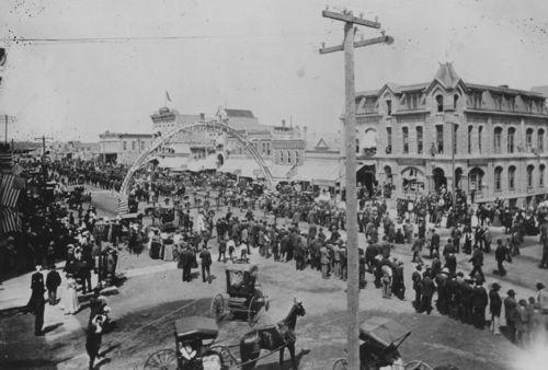 G.A.R. parade, Winfield, Kansas - Page