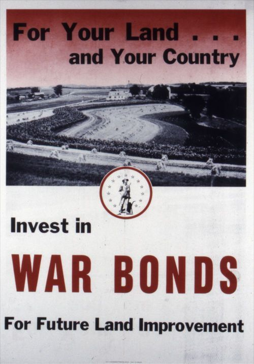 For your land and your country, invest in war bonds for future land improvement - Page