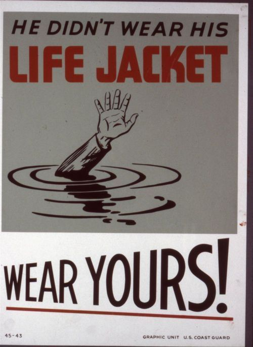 He didn't wear his life jacket. Wear yours! - Page