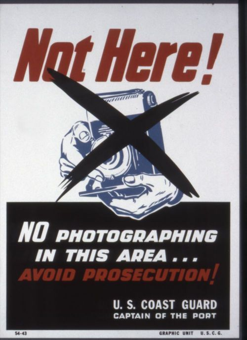 Not here! No photographing in this area! - Page