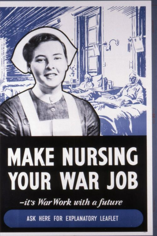 Make nursing your war job - Page