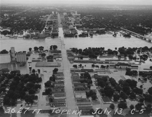 North Topeka business district during the 1951 flood, Topeka, Kansas - Page