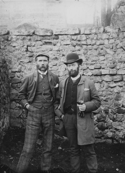 Photograph of John Fenton Pratt and George Lee somewhere in England, ca. 1879-1880.