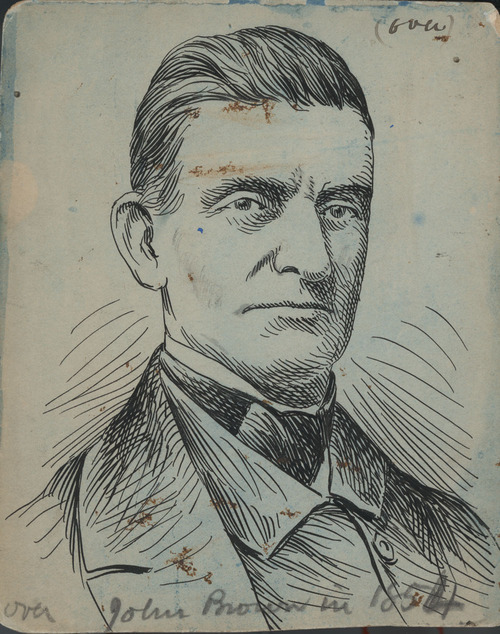 John Brown illustration used in Hinton's book, John Brown and His Men. - Page