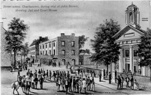 Street scene in Charles Town, Virginia, during John Brown's trial - Page