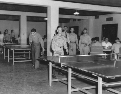 Playing table tennis, Junction City, Kansas - Page