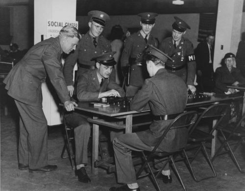Playing checkers, Junction City, Kansas - Page