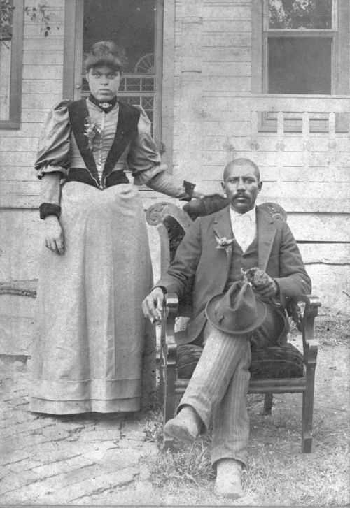 Portrait of Matilda and Junius Groves