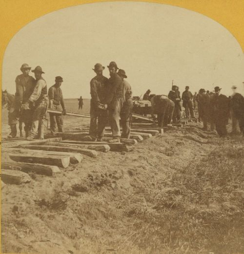 Laying the Union Pacific rails - Page