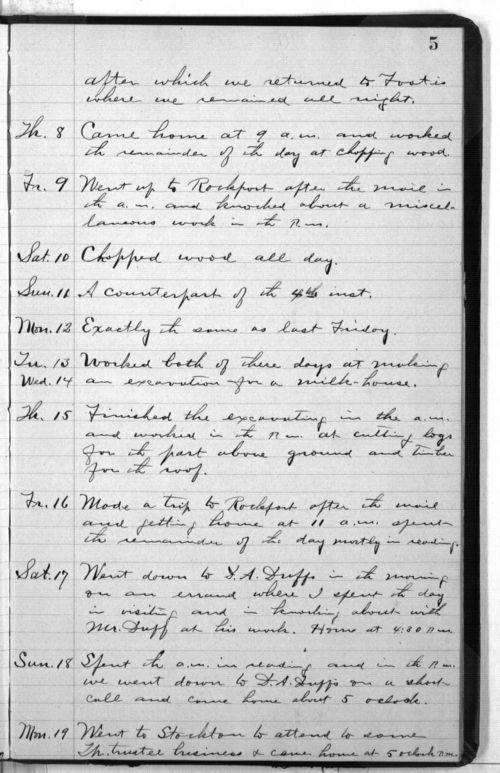 Elam Bartholomew diary - Page
