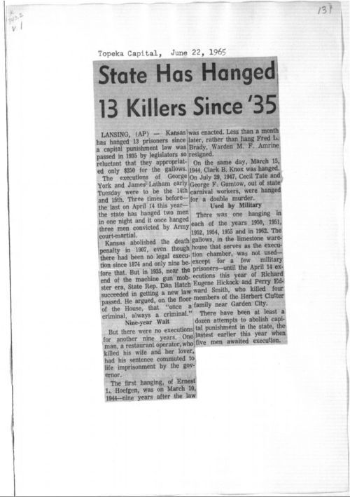 State has hanged 13 killers since '35 - Page