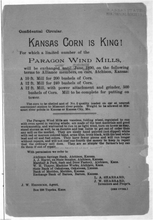 Confidential circular.  Kansas corn is king! - Page