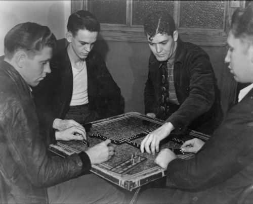 Men playing dominoes - Page