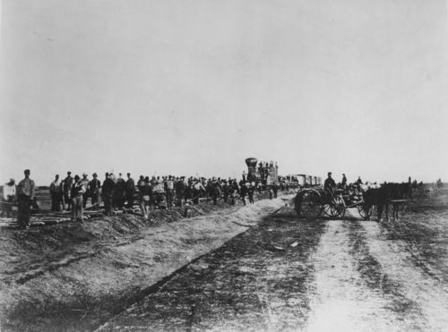 Laying track on the Union Pacific Railroad - Page