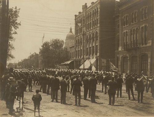 Hiawatha Band in Soldiers Parade, Topeka, Kansas - Page
