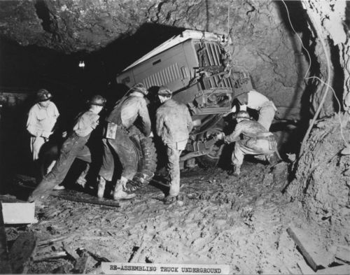 Re-assembling a truck underground - Page